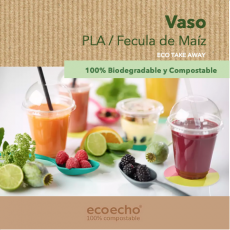 Vaso Biodegradable Ecológico PLA Duni Cancún